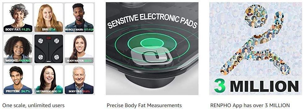 RENPHO Body Fat Scale - Smart Body Composition Analyzer