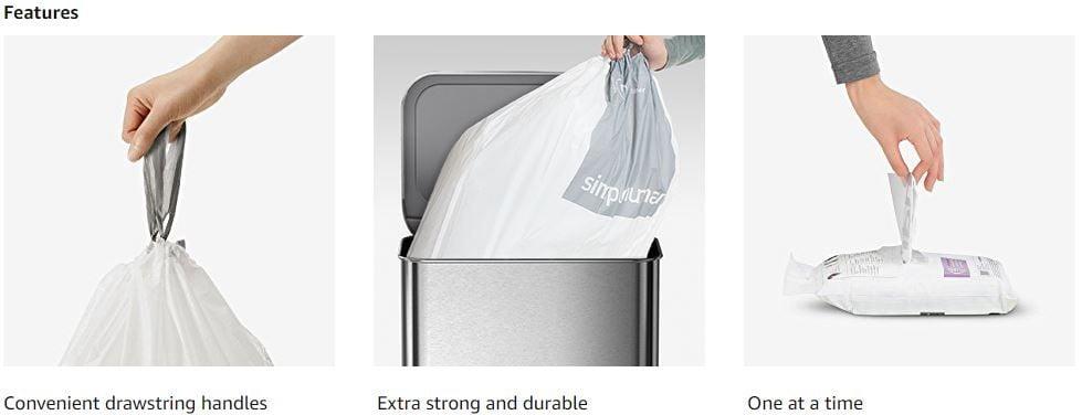 Simplehuman Code M Custom Fit Drawstring Trash Bags