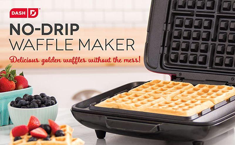 DASH No Drip Belgian Waffle Maker