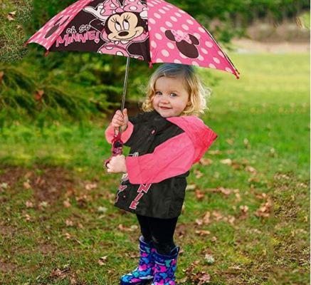 Disney Little Girls Assorted Characters Slicker and Umbrella Rainwear Set