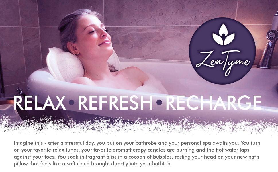 Kandoona ZenTyme Luxury Bath Pillow