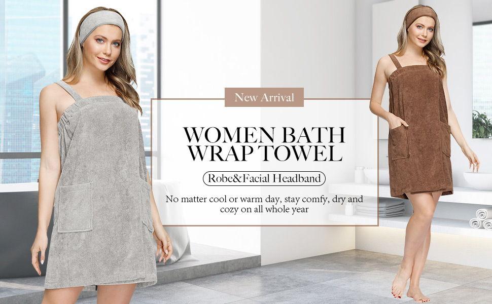 Zexxxy Women Bath Wrap Towel