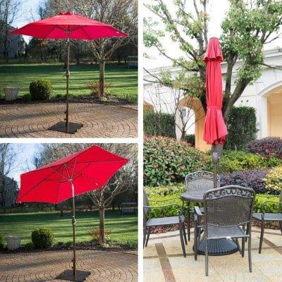 abba patio outdoor patio 9 ft market table umbrella