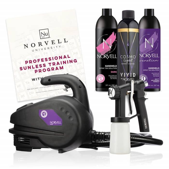 norvell spray tan machine application