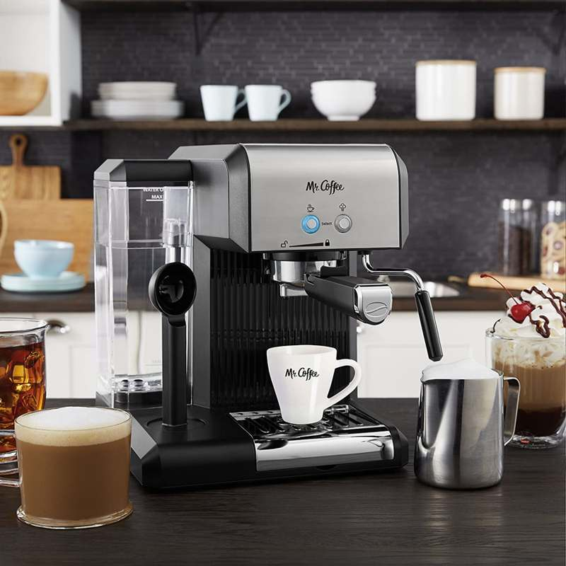 mr. coffee cafe steam home espresso machine