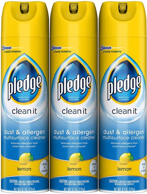 Pledge Dust Allergen Multi Surface Disinfectant Cleaner Spray