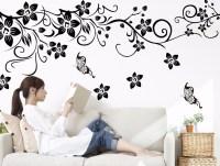 DIY Wall Art Decal Romantic Flower Wall Sticker ...