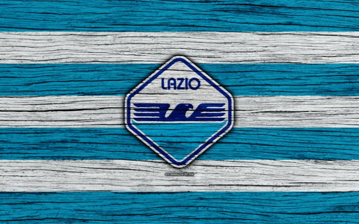 Lazio, 4k, Serie A, new logo, Italy, wooden texture, FC Lazio, soccer, football, Lazio FC, Lazio new logo