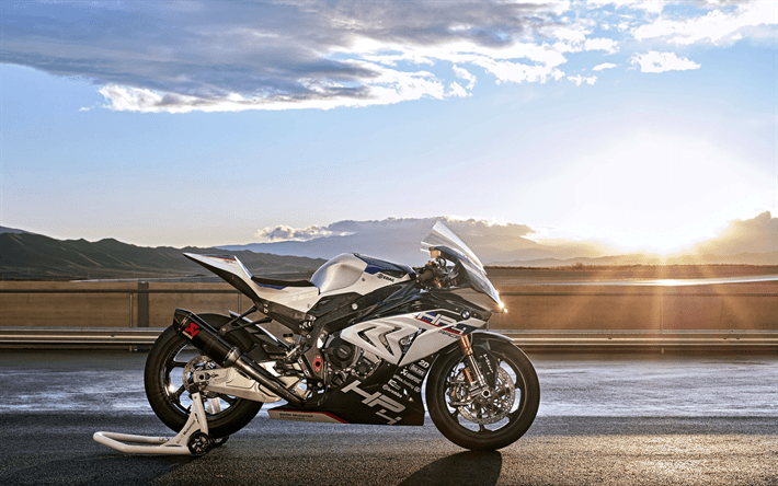 Download Wallpapers 4k BMW HP4 Race Sunset 2018 Bikes