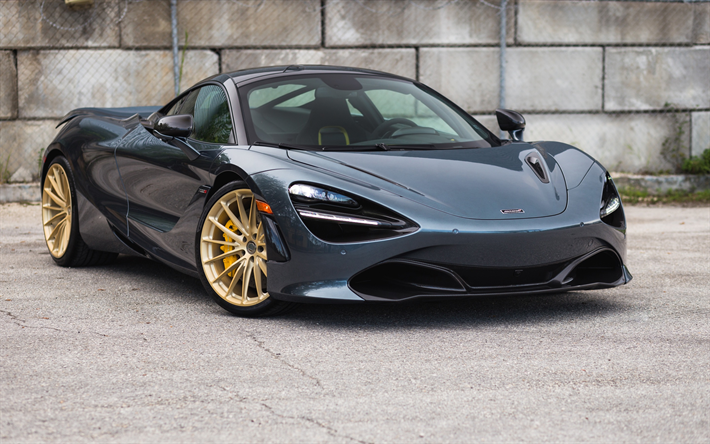 Download Wallpapers Mclaren 720s Black Sports Coupe Supercar