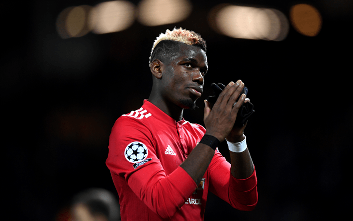 Download wallpapers 4k Paul Pogba match footballers