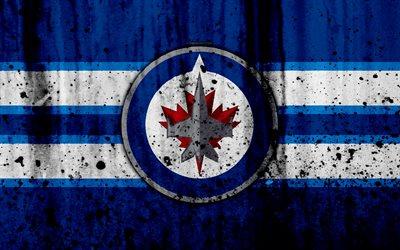 Nhl Iphone Wallpaper Download Wallpapers 4k Winnipeg Jets Grunge Nhl Hockey