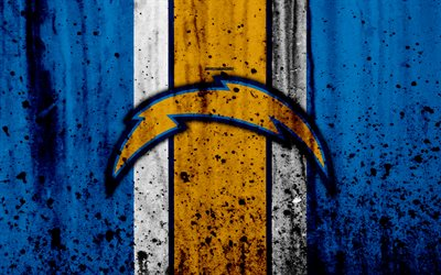 Beautiful Abstract Wallpapers 3d Download Wallpapers Los Angeles Chargers 4k Nfl Grunge