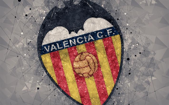 Hq 3d Wallpapers Free Download Download Wallpapers Valencia Cf 4k Art Creative Logo