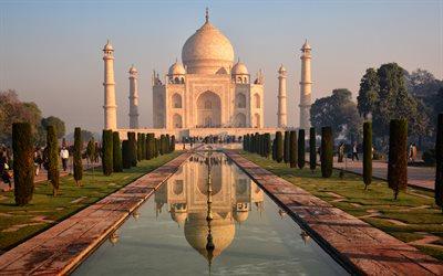 Taj Mahal Full Hd Wallpaper Download Wallpapers Taj Mahal 4k Agra Mausoleum Mosque