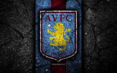 Black Cool Wallpaper Hd Download Wallpapers 4k Aston Villa Fc Logo Efl