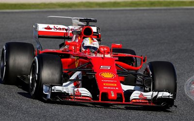 Download Wallpapers Sebastian Vettel 4k Ferrari SF15 T