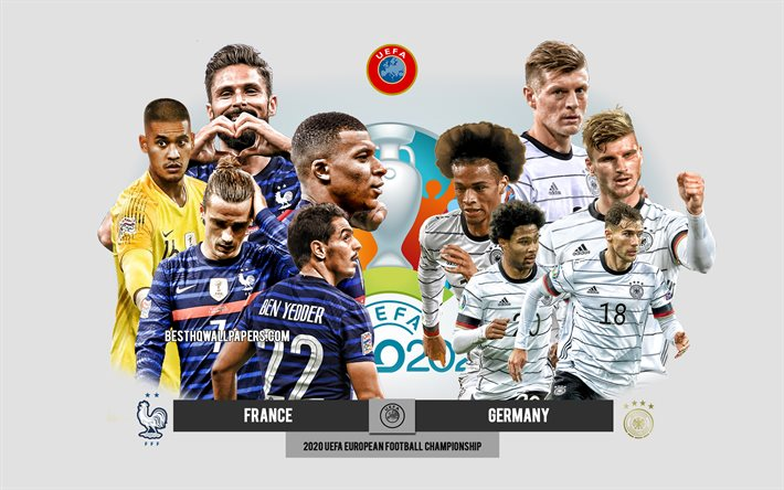 If you're new to football, you may not be able to name all of the positions on a team. Download Wallpapers France Vs Germany Uefa Euro 2020 Preview Promotional Materials Football Players Euro 2020 Football Match France National Football Team Germany National Football Team For Desktop Free Pictures For Desktop Free