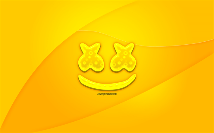 download wallpapers marshmello yellow