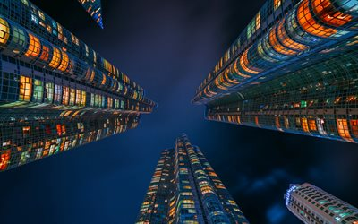 Best Future City 3d Wallpapers Download Wallpapers Seoul Modern Buildings Skyscrapers