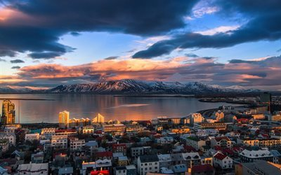 Best Love Quotes Wallpapers Free Download Download Wallpapers Reykjavik Fjord Mountains Sunset