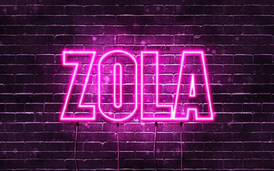 Download wallpapers Zola, 4k, wallpapers with names