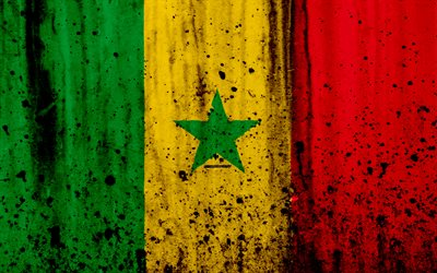 You Can Do It Quotes Wallpaper Download Wallpapers Senegalese Flag 4k Grunge Flag Of