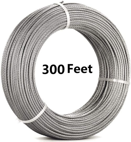 Senmit Stainless Steel Aircraft Wire Rope for Deck Cable Railing Kit 1