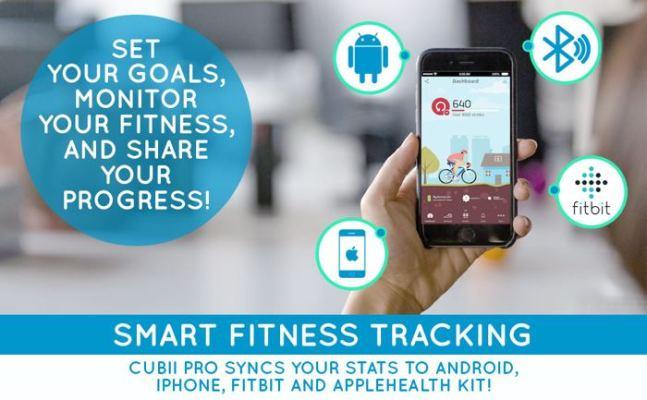 Cubii pro elliptical smart fitness tracking