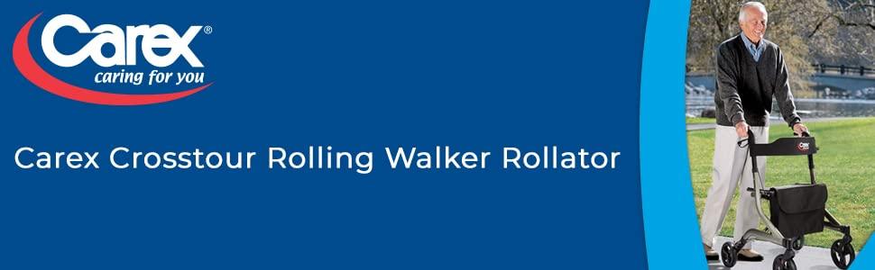 Crosstour rolling walker rollator Carex