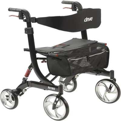 Drive medical heavy duty nitro euro style walker rollator