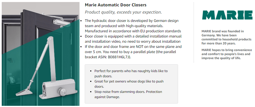 Marie Automatic Size 3 Door Closer Review