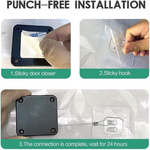 Punch Free Automatic Sensor Door Closer