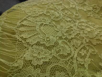 Soft chartreuse french chantilly lace
