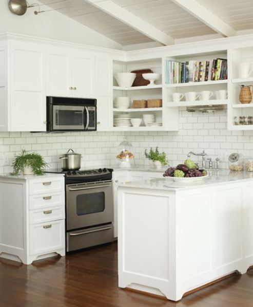 white kitchen cabinets with subway tile backsplash Top 5 Kitchen Trends for 2014 by Beasley & Henley Interior