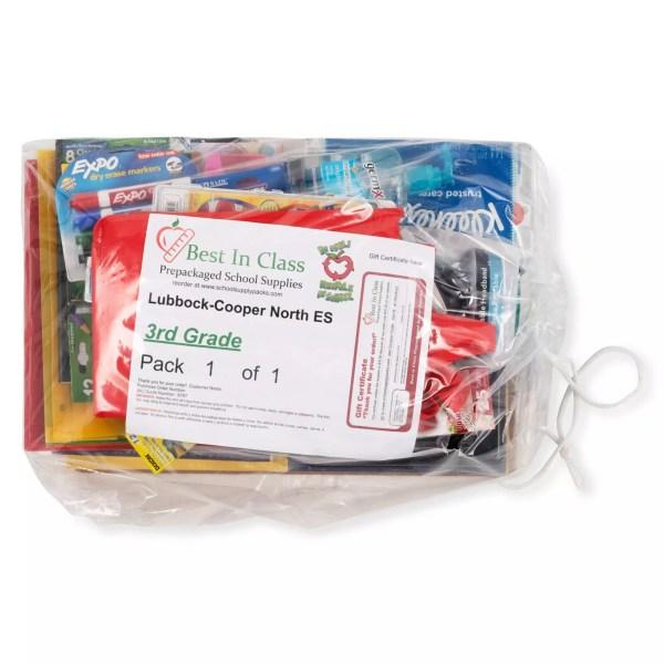 standard school supply pack