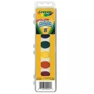 Watercolors crayola washable 8 set oval
