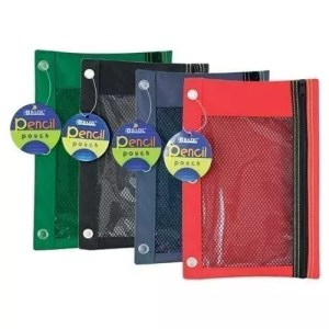 Pencil Bag, 6.5 inch x 10 inch, mesh front