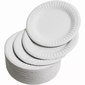 "Paper Plates, 6"", pack of 50"