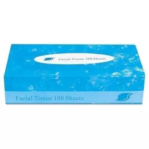 Tissue facial, flat box, 2-ply, 100 ct
