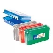 Pencil Box 8.5 x 5.5 x 2.5 assorted colors