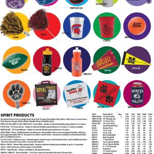 School Spirit Fundraiser items