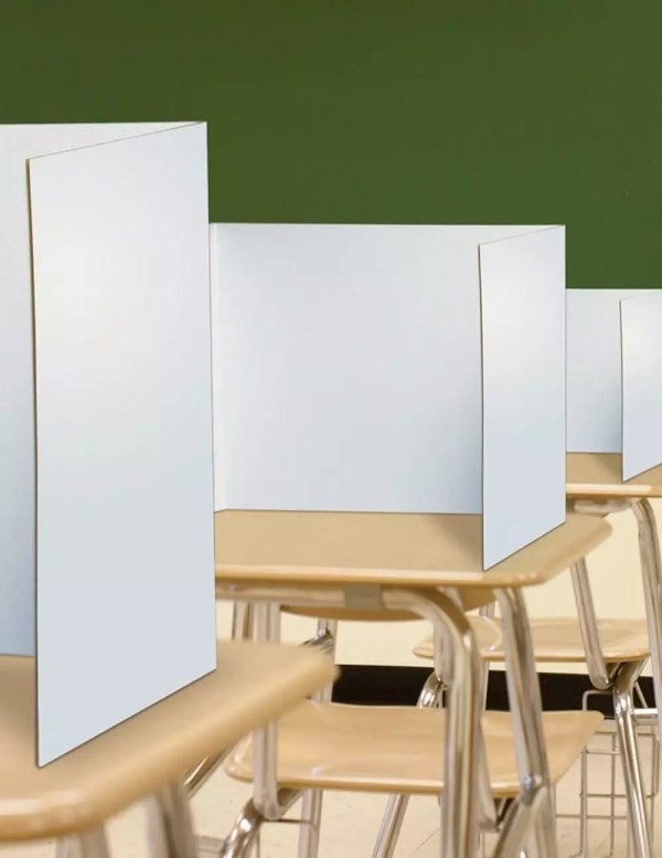Classroom Desktop Privacy Screen Carel, Pack of 25