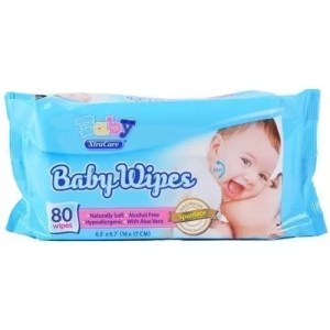 baby wipes, 80 ct, xtracare, aloe vera