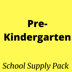 prekindergarten school supply pack kit
