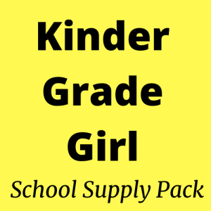 kindergarten girl school supply pack