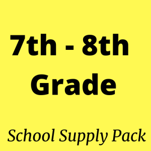7th 8th grade school supply packs