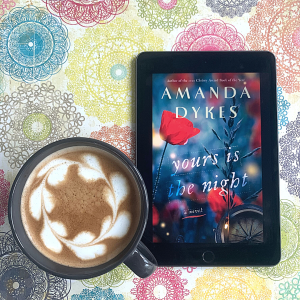 Yours is the Night Book cover and latte with hearts