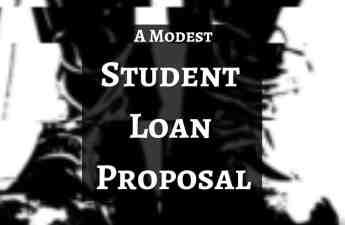 student loan proposal