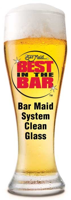 Bar Maid System Clean Glass